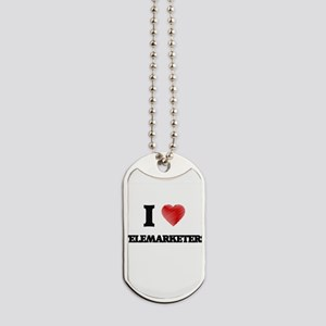 I love Telemarketers Dog Tags