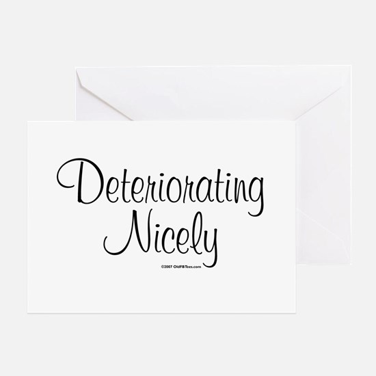 3-DeterioratingNicely_lds Greeting Cards