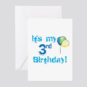 It's My 3rd Birthday Greeting Cards (Pk of 10)