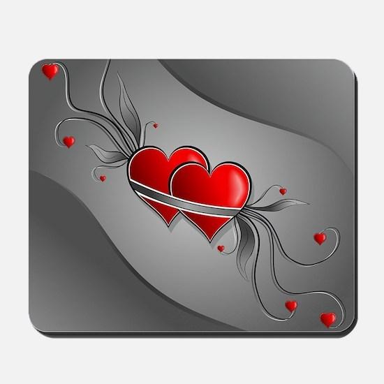 Double Hearts Mousepad