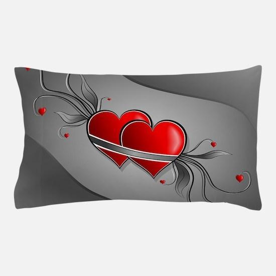 Double Hearts Pillow Case
