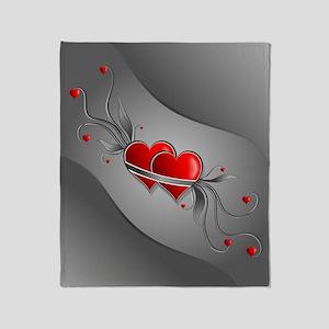 Double Hearts Throw Blanket