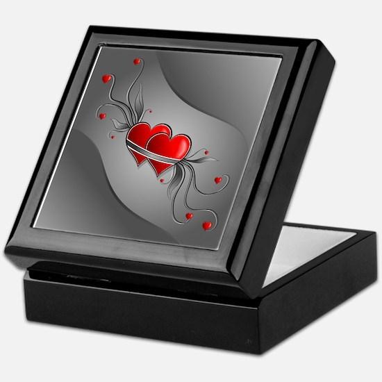 Double Hearts Keepsake Box