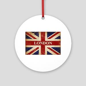 London - Union Jack Round Ornament