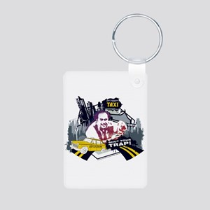 Taxi Shut Your Trap Aluminum Photo Keychain