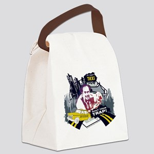 Taxi Shut Your Trap Canvas Lunch Bag