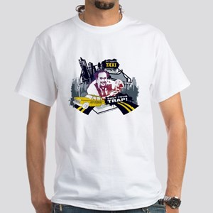 Taxi Shut Your Trap White T-Shirt