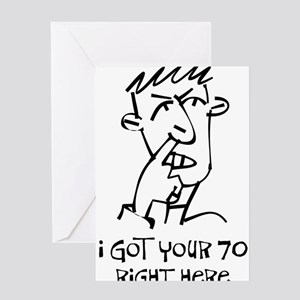 70th birthday nose picker Greeting Cards (Package