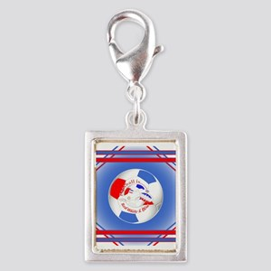 Red White and Blue Soccer Charms