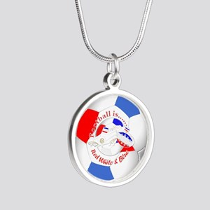 Red White and Blue Soccer Necklaces