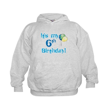 It's My 6th Birthday Kids Hoodie