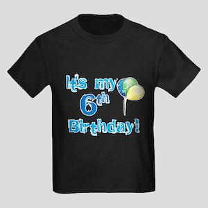 It's My 6th Birthday Kids Dark T-Shirt