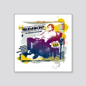 """Taxi Change the Channel Square Sticker 3"""" x 3"""""""