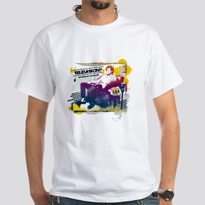 Taxi Change the Channel White T-Shirt