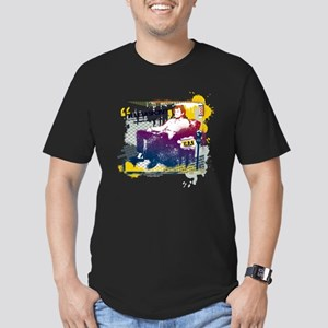 Taxi Change the Channe Men's Fitted T-Shirt (dark)