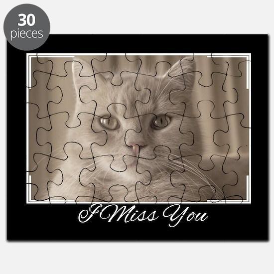 I Miss You Cat Puzzle
