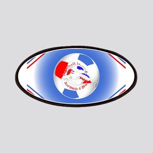 Red White and Blue Soccer Patch