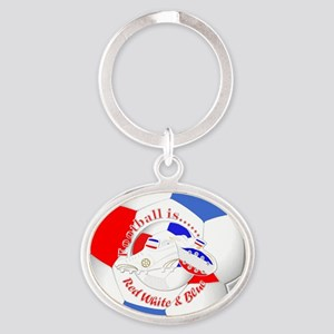 Red White and Blue Soccer Keychains