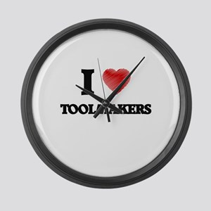 I love Toolmakers Large Wall Clock