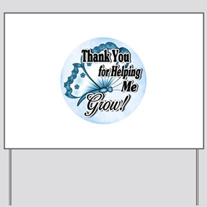 Teacher Thank You Yard Sign