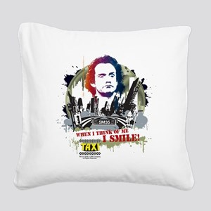 Taxi I Smile Square Canvas Pillow