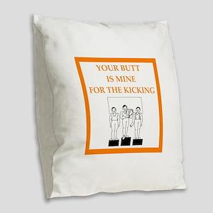 champion Burlap Throw Pillow