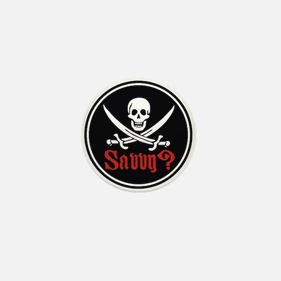 Savvy? Pirate Flag Mini Button