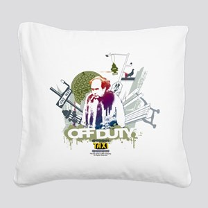 Taxi Off Duty Square Canvas Pillow