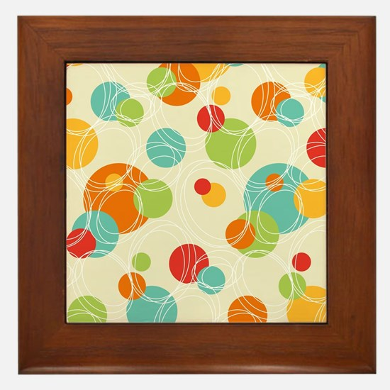 Funny Oval Framed Tile