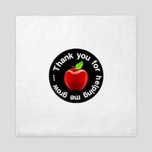 Teacher Apple Thank You Queen Duvet
