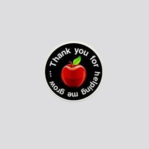 Teacher Apple Thank You Mini Button
