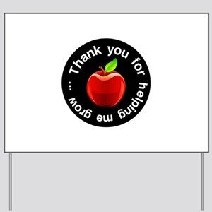 Teacher Apple Thank You Yard Sign