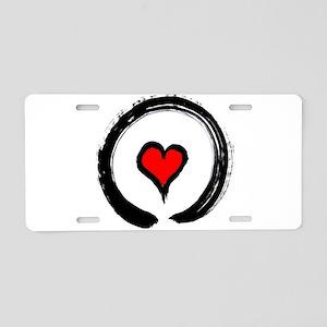 Zen Love Aluminum License Plate