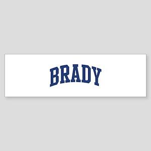 BRADY design (blue) Bumper Sticker