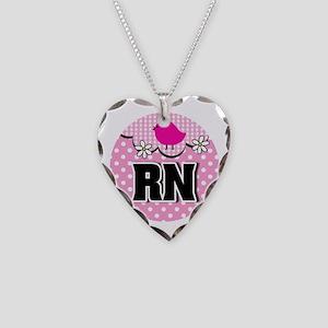 Nurse RN Birdie Necklace Heart Charm