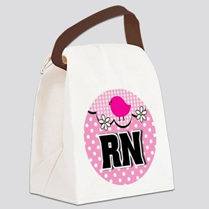 Nurse RN Birdie Canvas Lunch Bag