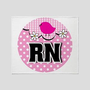 Nurse RN Birdie Throw Blanket