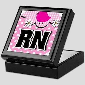 Nurse RN Birdie Keepsake Box