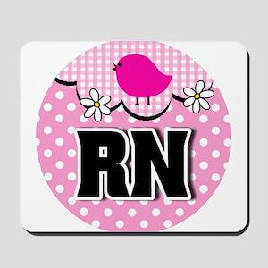 Nurse RN Birdie Mousepad
