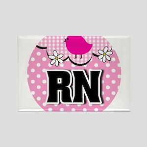 Nurse RN Birdie Rectangle Magnet