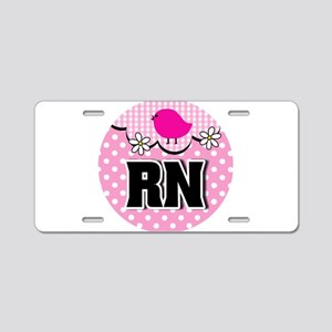 Nurse RN Birdie Aluminum License Plate