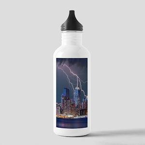 Lightning over New Yor Stainless Water Bottle 1.0L