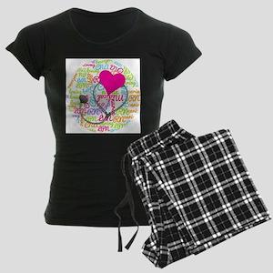 Nurse Word Art Women's Dark Pajamas
