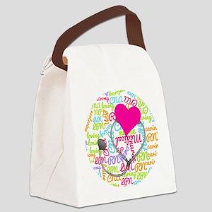 Nurse Word Art Canvas Lunch Bag