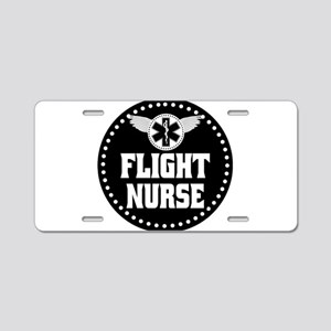 Flight Nurse Aluminum License Plate