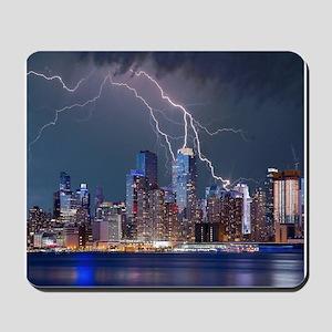 Lightning over New York City Mousepad