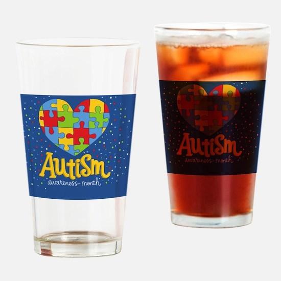 Unique Autistic advocacy Drinking Glass