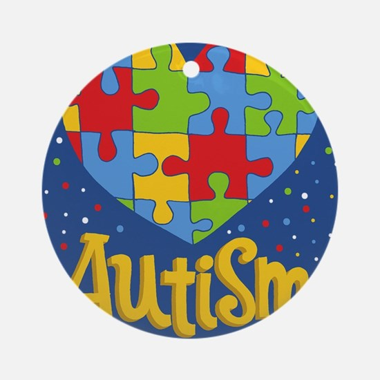 autism awareness month Round Ornament
