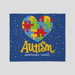 autism awareness month Throw Blanket
