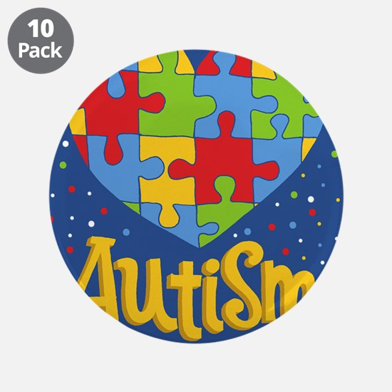 """autism awareness month 3.5"""" Button (10 pack)"""